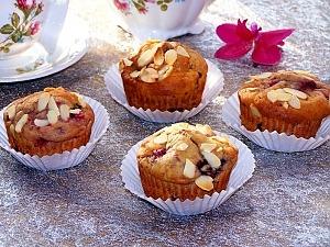 Кексы с ягодами замороженными и рикоттой