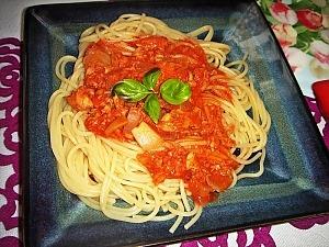 Спагетти с рыбой