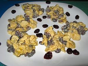 Печенье из кукурузных хлопьев без выпечки
