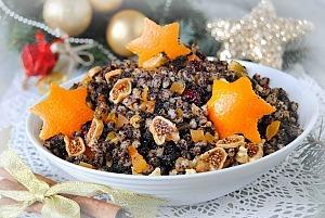 Рождественская кутья с орехами и сухофруктами