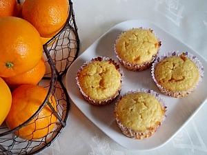 Апельсиновые маффины с белым шоколадом
