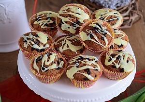 Ореховые маффины с барбарисом