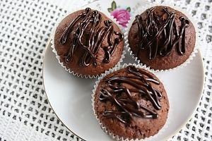 Шоколадные маффины с чили