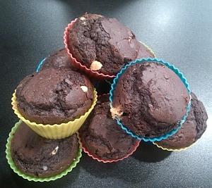 Маффины с тремя видами шоколада