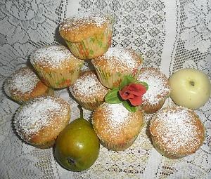 Маффины с яблоками и грушами