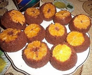Перевернутые маффины с мандаринами