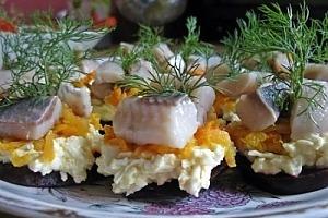 Порционная закуска с селедкой
