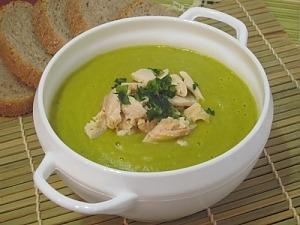 Куриный крем-суп с зеленым горошком