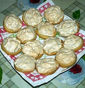 Печенье ореховое с мармеладом