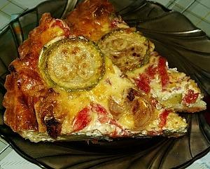 Овощной пирог из кабачков