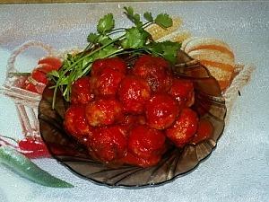 Тефтели из фарша в томатном соусе
