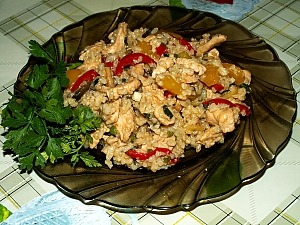 Рис по-китайски с овощами