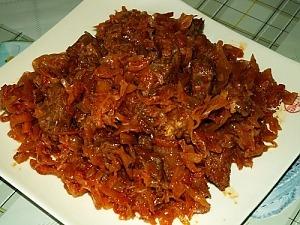 Тушеная капуста с мясом