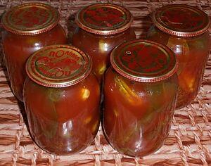Маринованные огурцы в томате