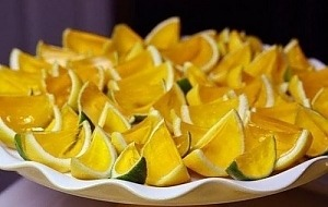 Лимонные дольки с алкожеле