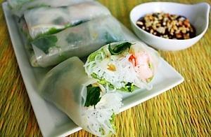 Вьетнамские спринг-роллы с креветками