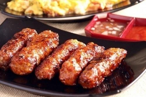 Чесночные колбаски