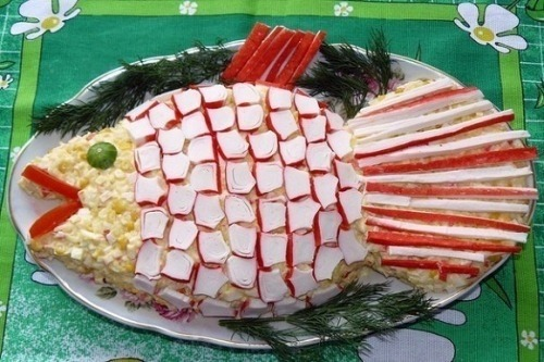 Салат «Золотая рыба»