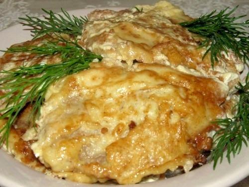 Куриная отбивная в картофельном кляре