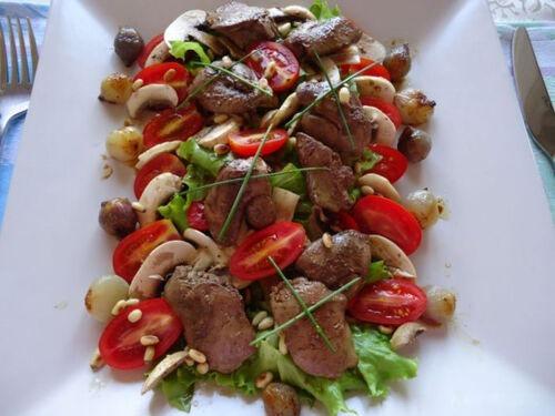 Салат из куриной печени без майонеза