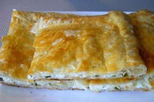 Слоеный пирог с сулугуни