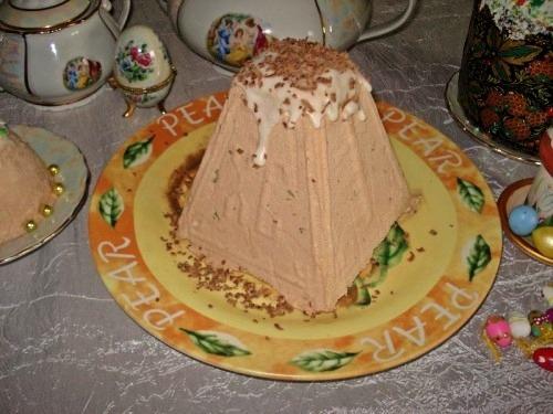 Творожно-шоколадная пасха