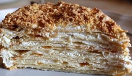 """Торт """"Наполеон"""" с заварным кремом"""