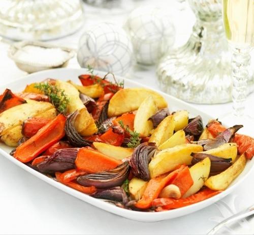 Овочі запечені в рукаві в духовці