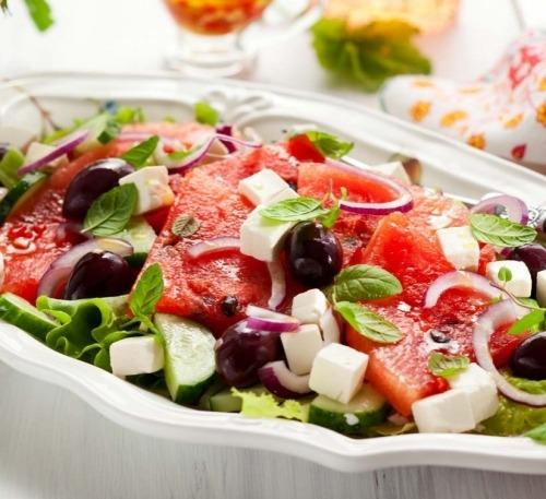 Салат із кавуна з фетою