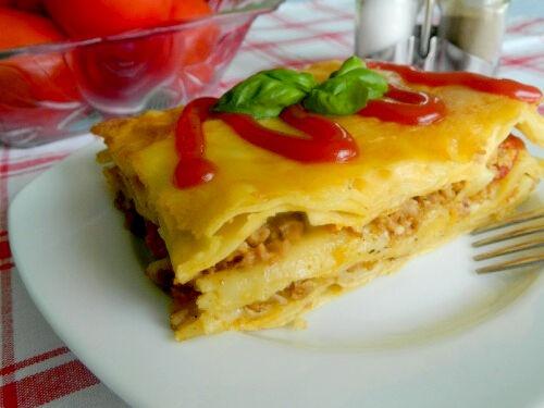 Рецепт лазаньи с фаршем и помидорами