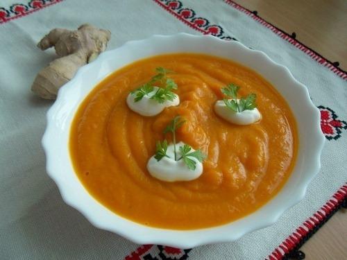 Гарбузовий суп з імбиром