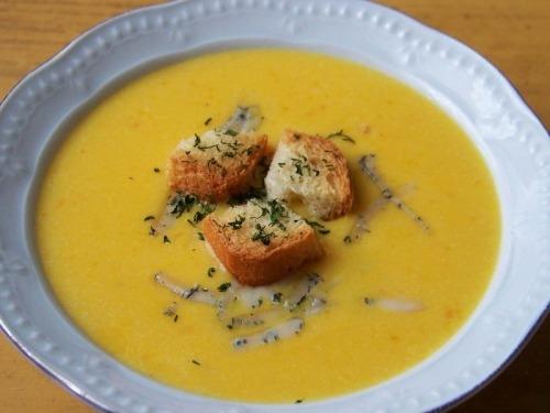 Крем-суп з гарбуза на кокосовому молоці