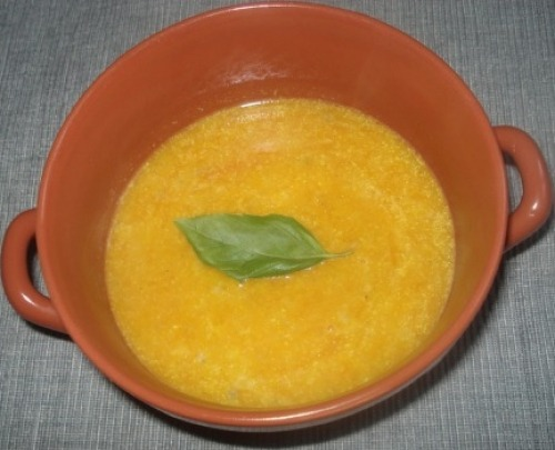 Гарбузовий суп з квасолею