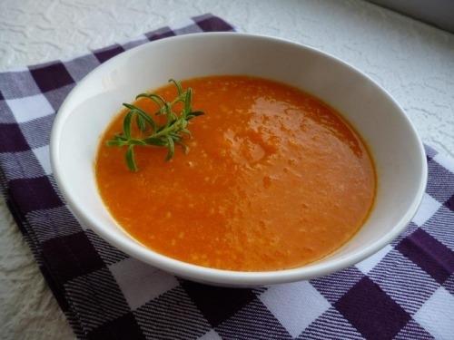 Морковный суп-пюре с кускусом