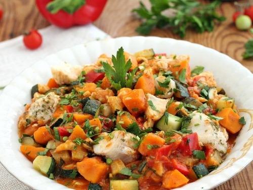 Рагу з риби з овочами