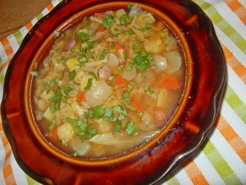 Суп с редисом и пекинской капустой