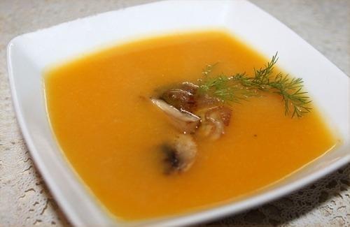 Суп-пюре из тыквы и цветной капусты