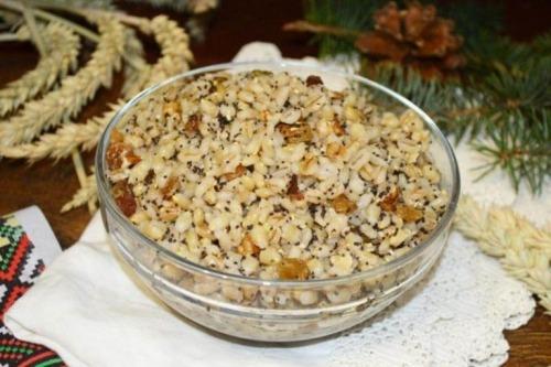Рождественская кутья из пшеницы с изюмом
