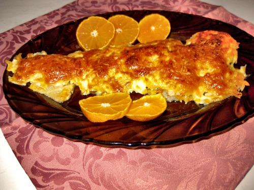 Филе минтая с сыром в духовке