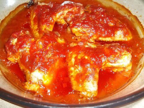 Крылышки запеченные в томатном соусе