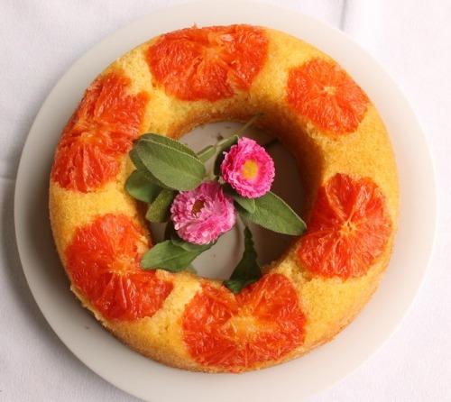 Пирог с грейпфрутом