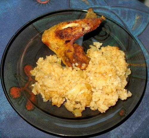 Крылышки запеченные с рисом