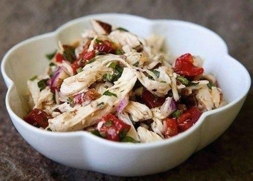 Салат из болгарского перца и курицы