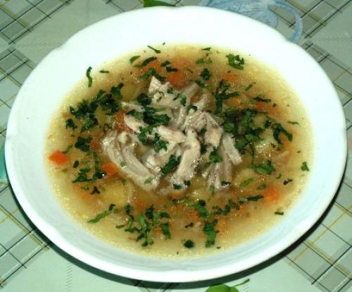Суп куриный с вермишелью