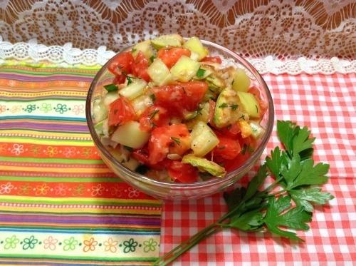 Салат зі смажених кабачків