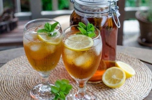 Холодный чай с мятой