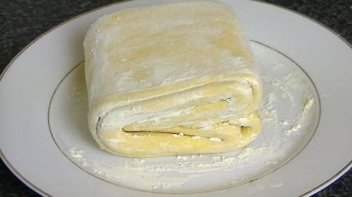 Рубленое слоеное тесто на молоке